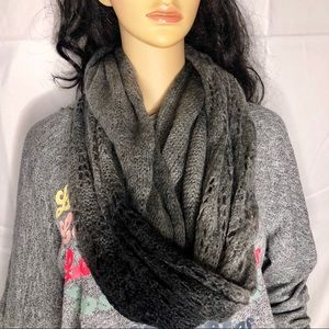 Urban Outfitters Grey Ombre Infinity Knit Scarf